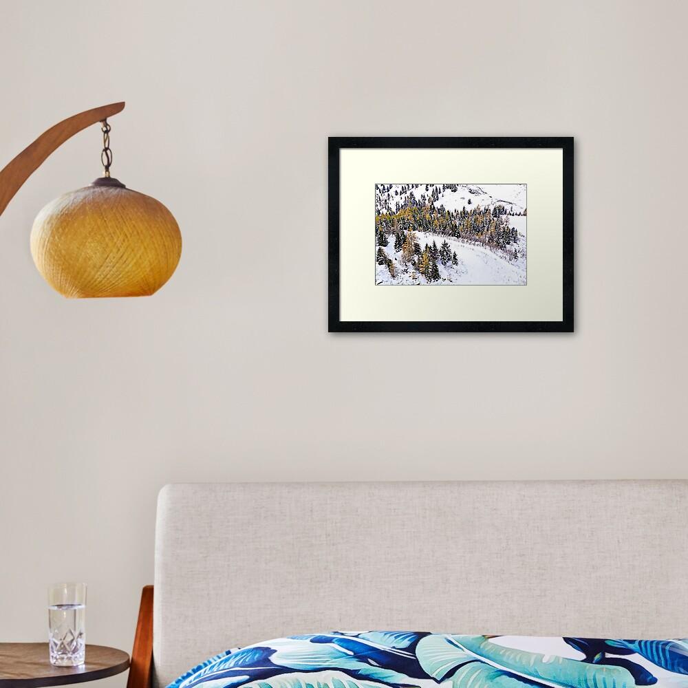 Swiss Winter Glacier 3000 Switzerland  Framed Art Print
