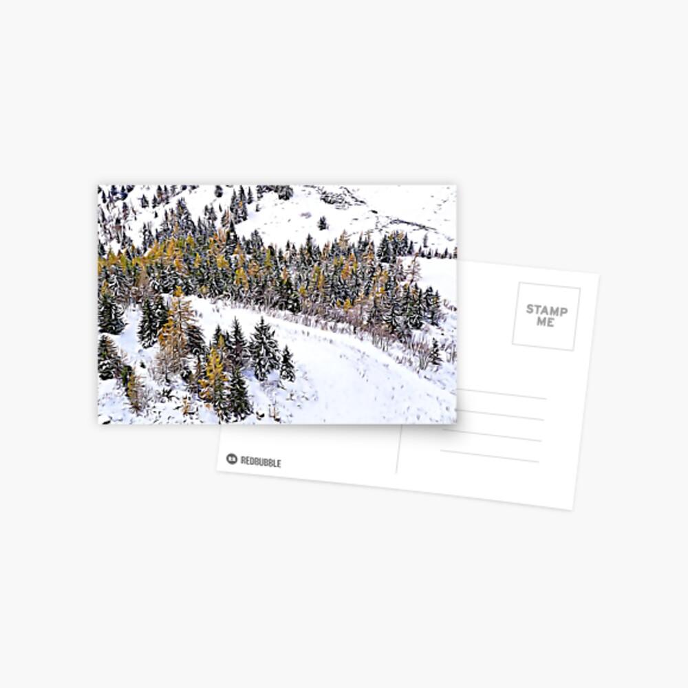 Swiss Winter Glacier 3000 Switzerland  Postcard
