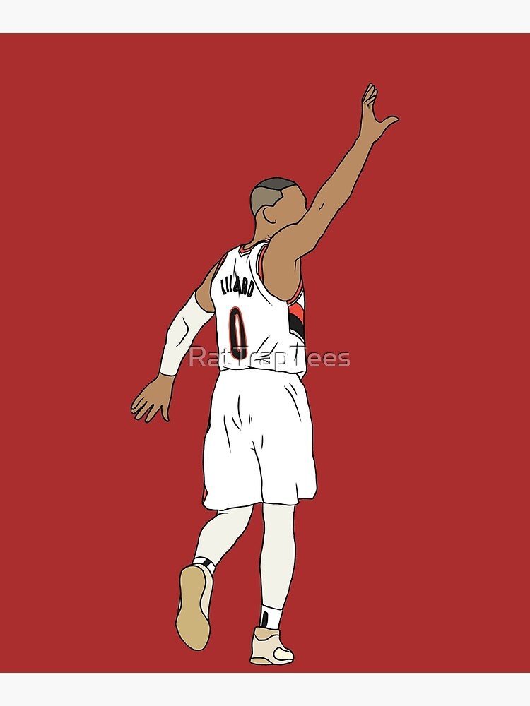Damian Lillard Waves Goodbye by RatTrapTees