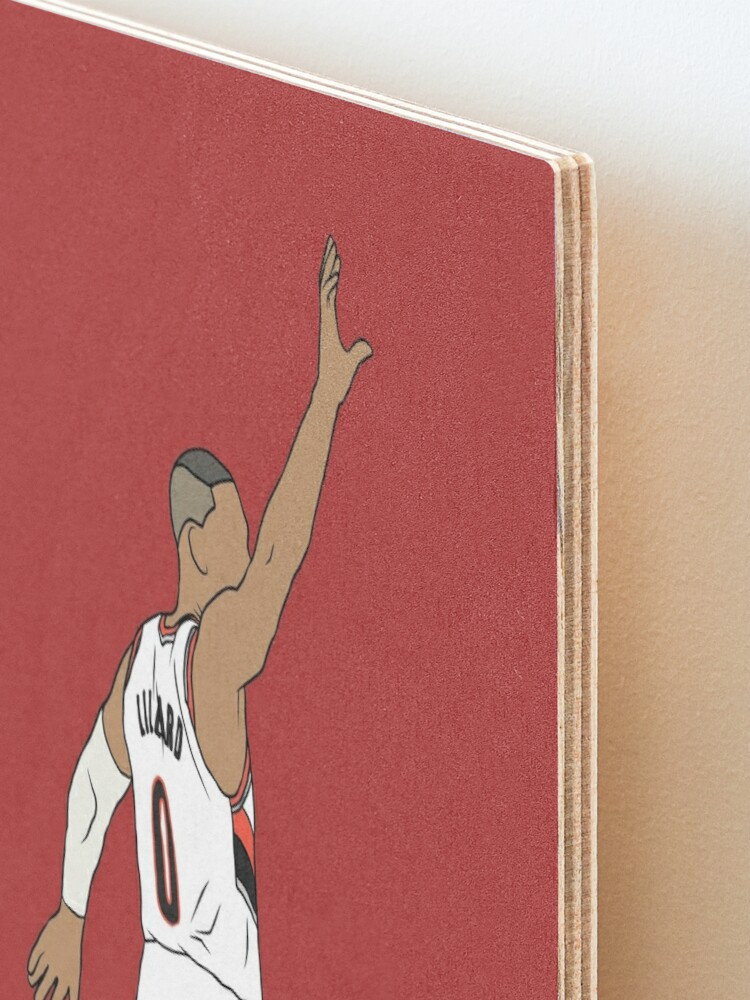 Alternate view of Damian Lillard Waves Goodbye Mounted Print