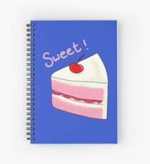 Sweet Strawberry Cake Spiral Notebook