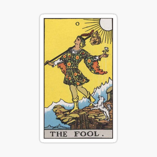 Tarot Card- The Fool Sticker