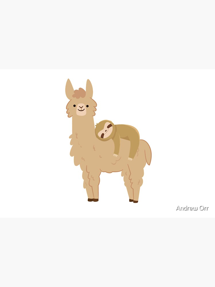 Adorable Sloth Relaxing on a Llama | Funny Llama Sloth by Soulfire86