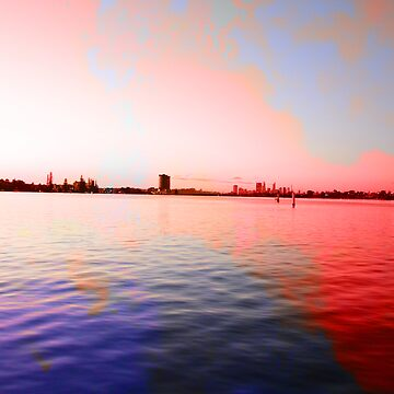 Surreal abstract colours over river landscape by AriaTees