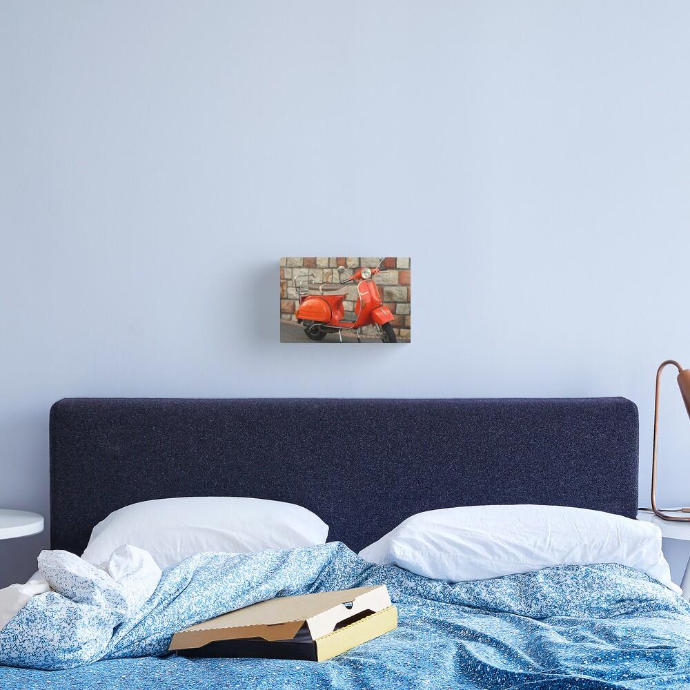 Orange Vespa Canvas Print