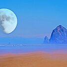 Cannon Beach Moon by Tori Snow