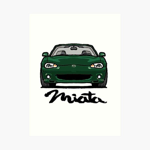 MX5 Miata NB - NB1 Dark Green Art Print