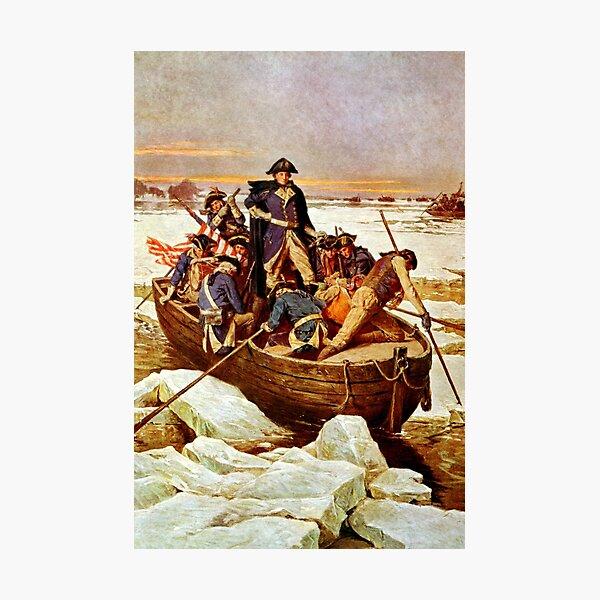 General Washington Crossing The Delaware River Photographic Print