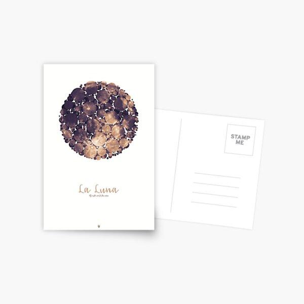 La Luna - Fly with me to the moon Postkarte