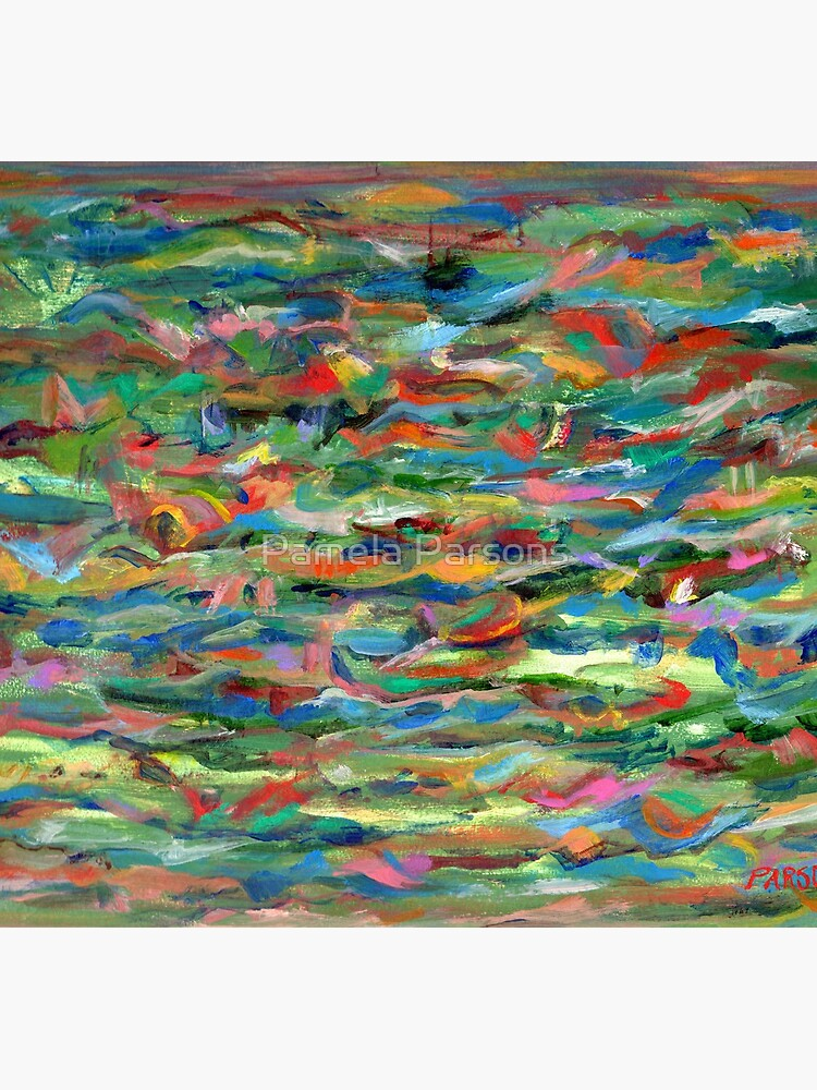 Birds Flying Over Water. From original painting by Pamela Parsons. by parsonsp