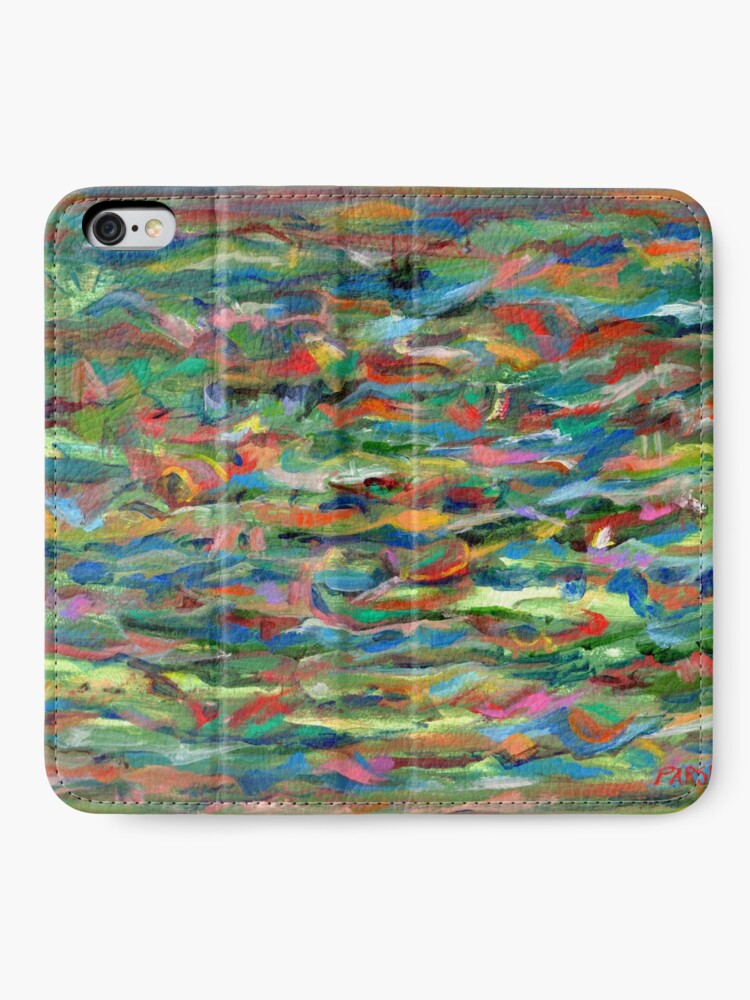 Alternate view of Birds Flying Over Water. From original painting by Pamela Parsons. iPhone Wallet
