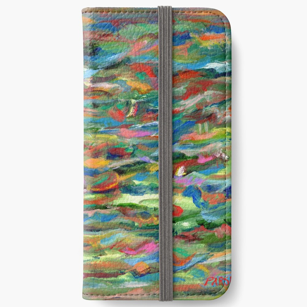 Birds Flying Over Water. From original painting by Pamela Parsons. iPhone Wallet