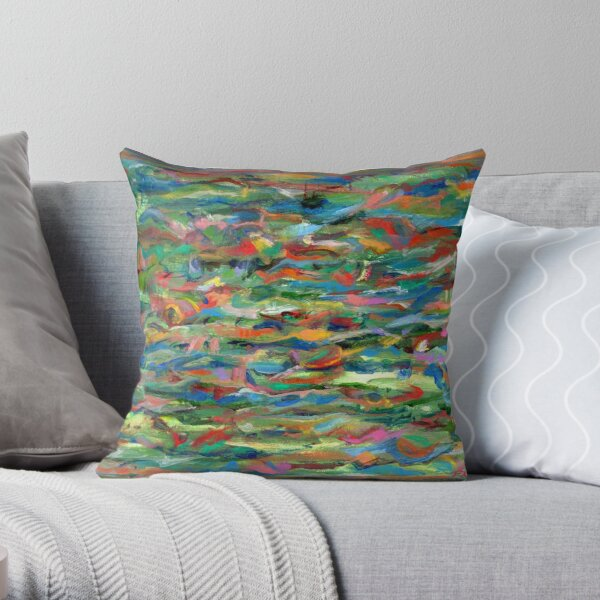 Birds Flying Over Water. From original painting by Pamela Parsons. Throw Pillow