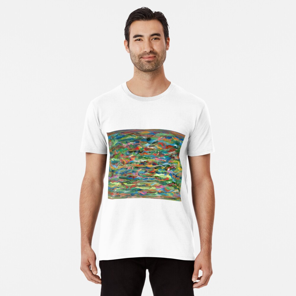 Birds Flying Over Water. From original painting by Pamela Parsons. Premium T-Shirt