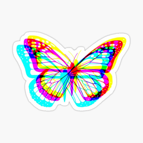 Glitch butterfly  Sticker