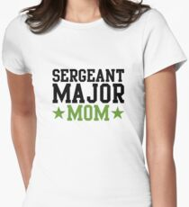 Sergeant Major Mom Womens Fitted T-Shirt