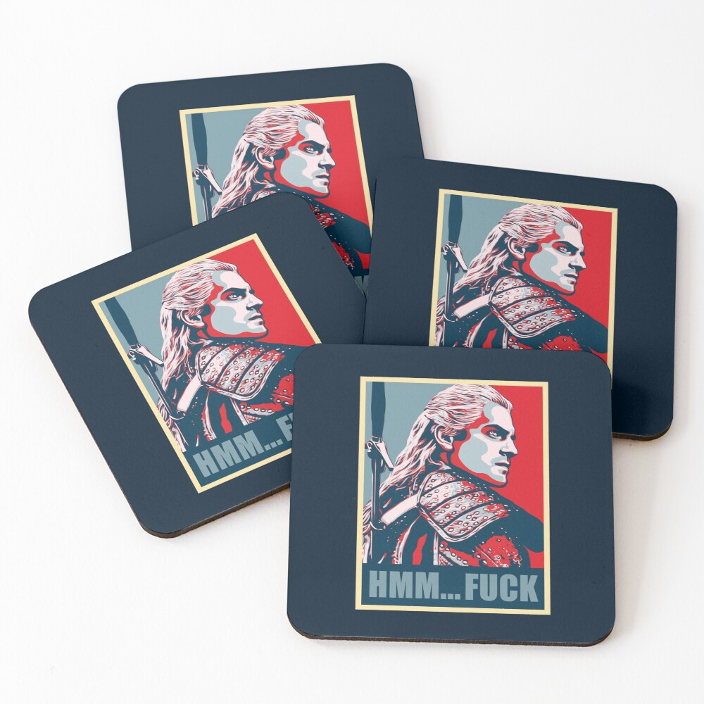 Hmm... F*ck! Coasters (Set of 4)
