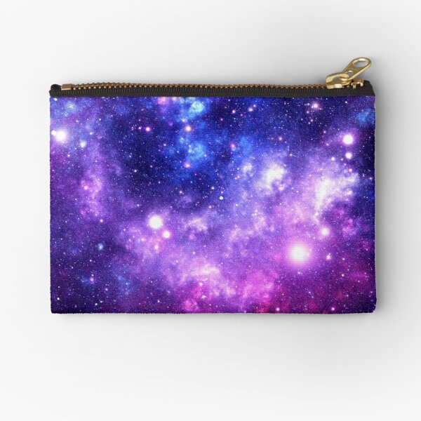 Purple Blue Galaxy Nebula Zipper Pouch