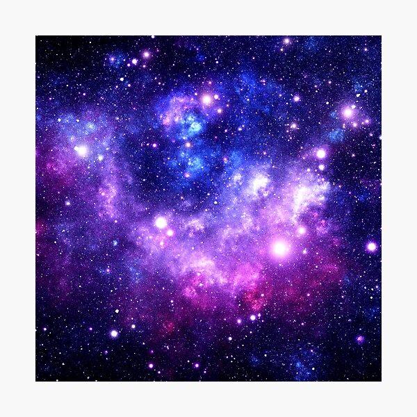 Purple Blue Galaxy Nebula Photographic Print