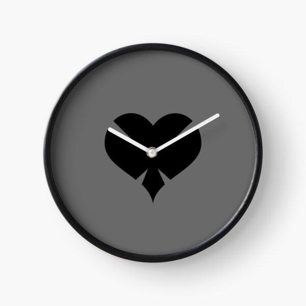 DARKHEART (Black) Clock
