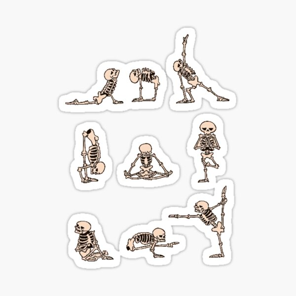skeleton yoga Sticker
