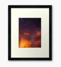 Sunset on a Storm Framed Print
