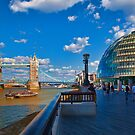 Tower Bridge and City Hall by Ray Clarke