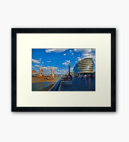 Tower Bridge and City Hall Framed Print