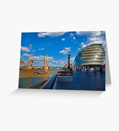 Tower Bridge and City Hall Greeting Card