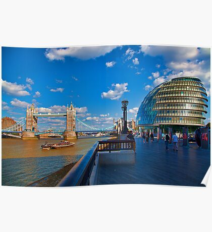Tower Bridge and City Hall Poster