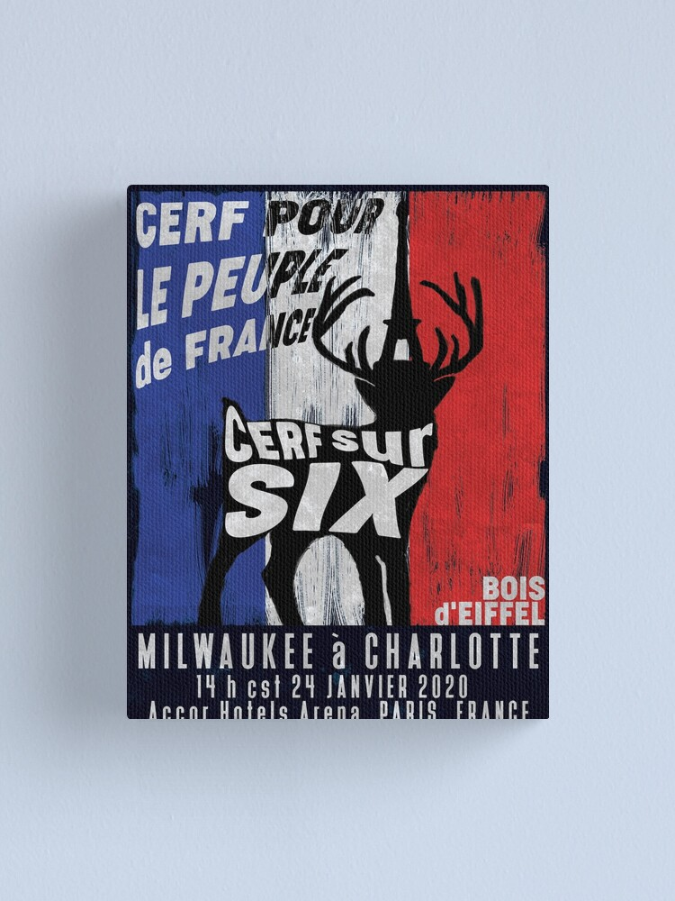 Alternate view of Cerf Pour le Peuple de France Canvas Print