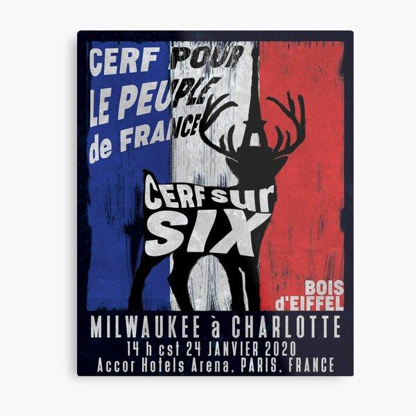 Cerf Pour le Peuple de France Metal Print