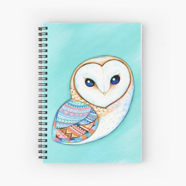 Tribal Pattern Barn Owl Spiral Notebook
