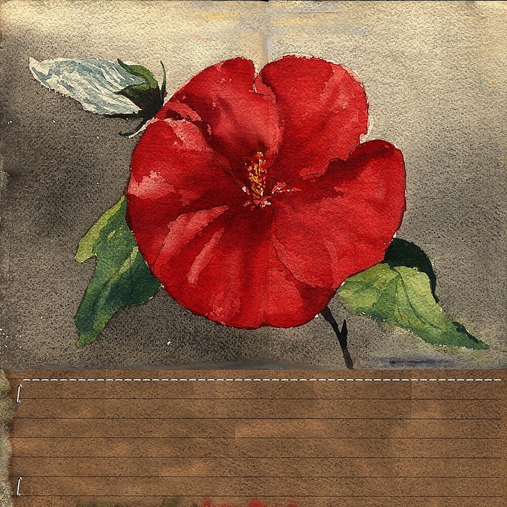 Red Painted Flower 1 by Terrell-ESS