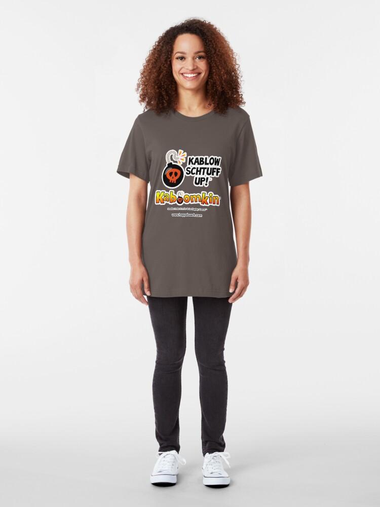 Alternate view of Kaboomkin RPG - Kablow Schtuff Up! Slim Fit T-Shirt