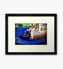 Summer, Set, Hand. Framed Print