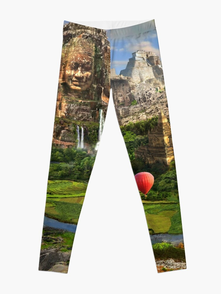 Alternate view of Valley Of The Temples - spiritual, peaceful temple art coexist Leggings
