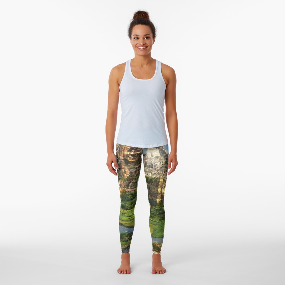 Valley Of The Temples - spiritual, peaceful temple art coexist Leggings