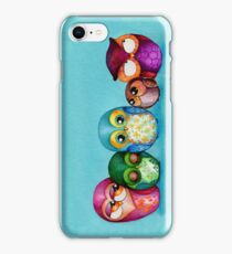 Fabric Owl Family iPhone Case/Skin