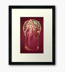 Princess Toadstool Nouveau Framed Print