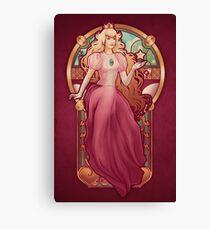 Princess Toadstool Nouveau Canvas Print