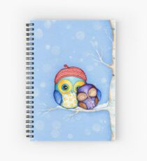 Owl in a Little Red Beret Spiralblock