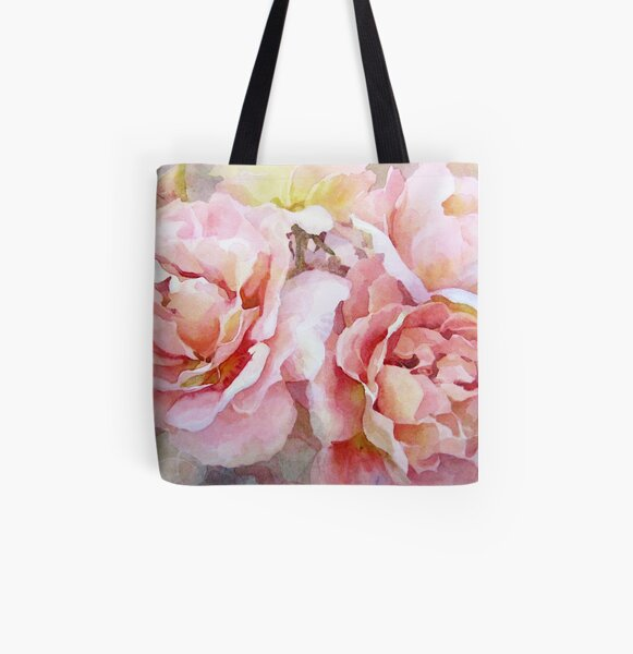 Summer Roses All Over Print Tote Bag