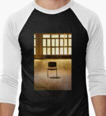 Lone chair empty hall  Men's Baseball ¾ T-Shirt