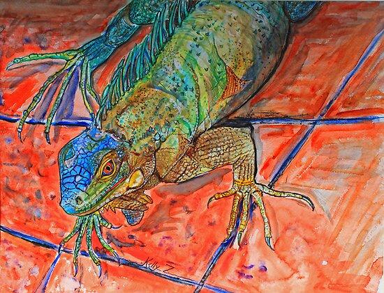 Red Eyed Iguana by Kelly ZumBerge