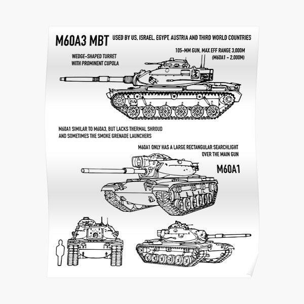 M60A3 PATTON TANK Poster