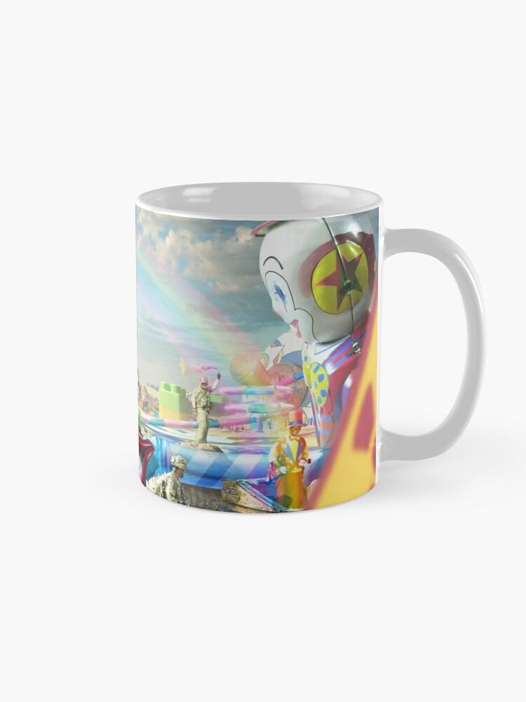 Alternate view of Clown Wasteland - trippy, surreal art Mug