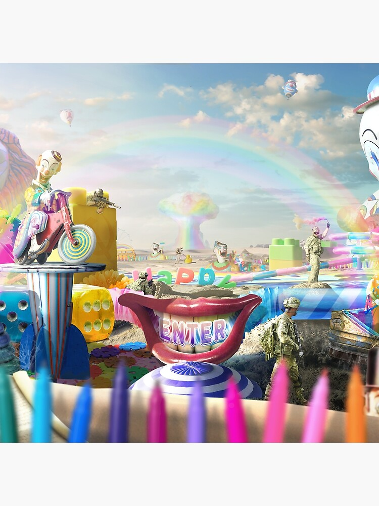 Clown Wasteland - trippy, surreal art by EPMattson