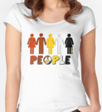 People 4 WORLD PEACE Women's Fitted Scoop T-Shirt