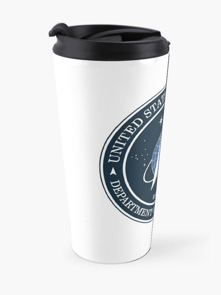 Alternate view of United States Space Force logo Travel Mug